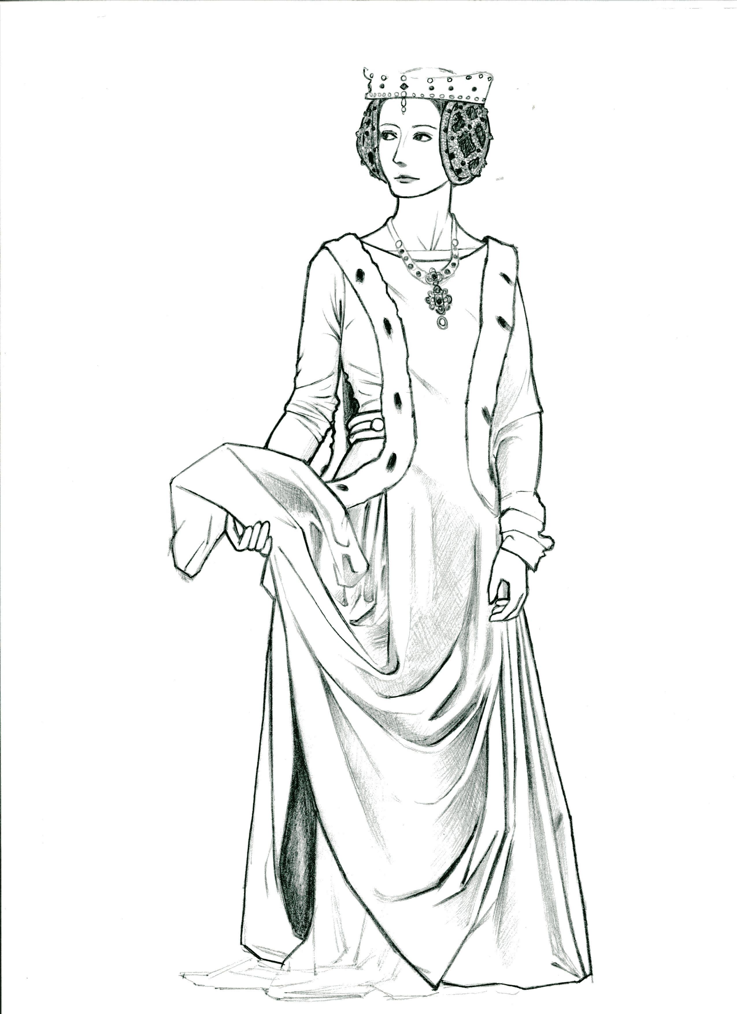 ゴシック時代の女性のフィギュア: 造型のブログ